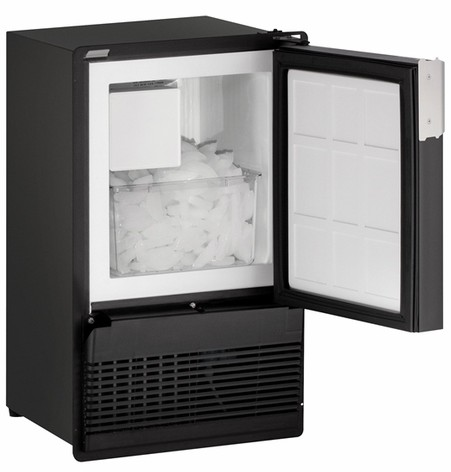 "BI95FCB-03A U-Line Marine Series 14"" Marine Crescent Ice Maker - Field Reversible - 110V - Black"
