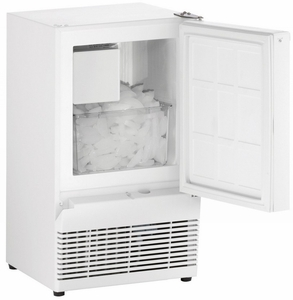 "BI95W-00A U-Line 14"" Wide ADA Series Crescent Ice Maker - Field Reversible - White"