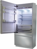 "BKI36BILS Fhiaba Brilliance Series 36"" Bottom Freezer Drawer Refrigerator with TriPro & TriMode - Left Hinge - Stainless Steel"
