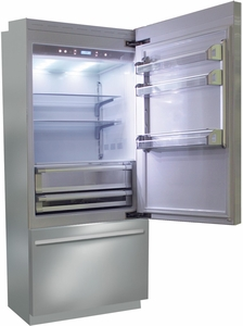 "BKI36BIRS Fhiaba Brilliance Series 36"" Bottom Freezer Drawer Refrigerator with TriPro & TriMode - Right Hinge - Stainless Steel"