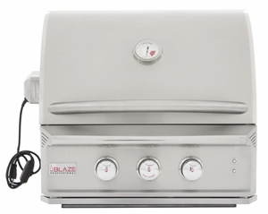 """BLZ2PROLP Blaze 27"""" Built-In Liquid Propane Grill with 2 Burners and Lighting System - Stainless Steel"""