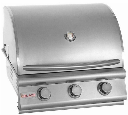 BLZ3LP Blaze 25 Inch 3-Burner Liquid Propane Gas Grill  - Stainless Steel