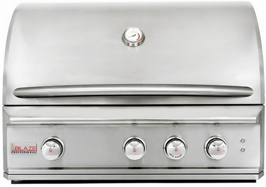 """BLZ3PROLP Blaze 34"""" Wide Professional 3 Burner Gas Grill with Commercial Quality Burners - LP Gas - Stainless Steel"""