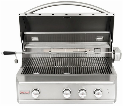 """BLZ3PRONG Blaze 34"""" Wide Professional 3 Burner Gas Grill with Commercial Quality Burners - Natural Gas - Stainless Steel"""