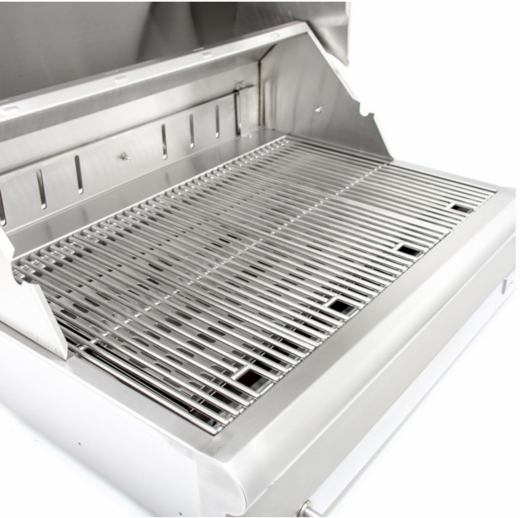 "BLZ4CHAR Blaze 32"" 4-Burner Grill With Rear Burner and Removable Warming Rack - Stainless Steel"