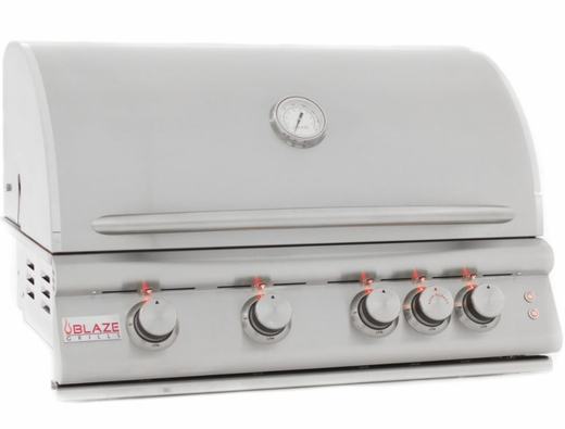 """BLZ4LTELP Blaze 32"""" Built-In Liquid Propane Grill with 4 Burners and Lighting System - Stainless Steel"""