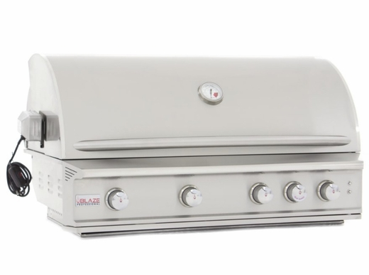 """BLZ4PROLP Blaze 44"""" Built-In Liquid Propane Grill with 4 Burners and Lighting System - Stainless Steel"""
