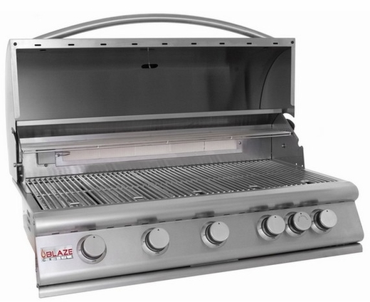 BLZ5LP Blaze 40 Inch 5-Burner Liquid Propane Gas Grill With Rear Burner - Stainless Steel
