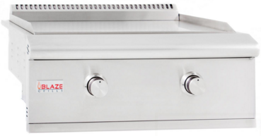 "BLZGRIDDLELP Blaze 30"" Built-In Propane Gas Griddle with Stainless Steel U-shaped Burners - Stainless Steel"