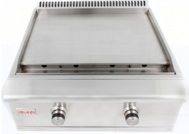 """BLZGRIDDLENG Blaze 30"""" Built-In Natural Gas Griddle with Stainless Steel U-shaped Burners - Stainless Steel"""