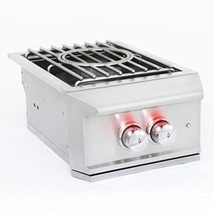 "BLZPROPBNG Blaze 16"" Professional Power Burner with Natural Gas and 60000 BTU's - Stainless Steel"