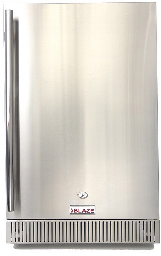"BLZSSRF40DH Blaze 21"" Outdoor 4.1 Cu. Ft. Compact Undercounter Refrigerator with 3 Adjustable Shelves - Stainless Steel"