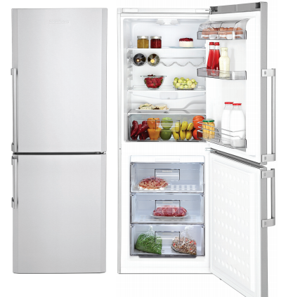 """BRFB1042SSN Blomberg 24"""" Freestanding Bottom Mount Refrigerator with No Frost Cooling System - Stainless Steel"""