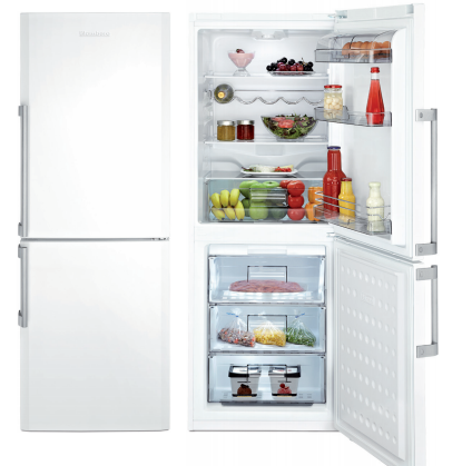 """BRFB1042WHN Blomberg 24"""" Freestanding Bottom Mount Refrigerator with No Frost Cooling System - White"""