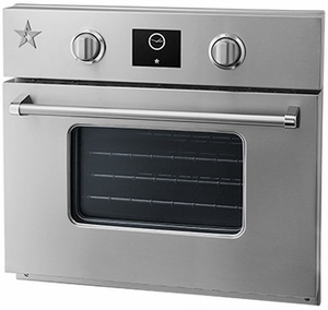 "BSEWO30ECDDV2 Bluestar 30"" Single Electric Wall Oven with Infrared Broiler - Stainless Steel"