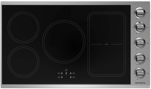 "BSP36INDCKT BlueStar 36"" Induction Cooktop with Rapid Heat Accelerator Technology and 12 Cooking Settings - Electric - Stainless Steel"