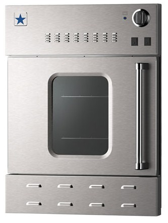 "BWO24AGSN BlueStar 24"" Single Gas Built-In Convection Wall Oven - Left Hinge - Stainless Steel"