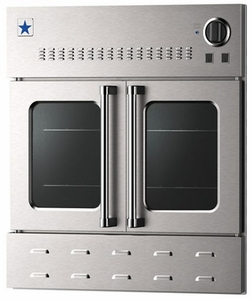 """BWO30AGSN BlueStar 30"""" Single Gas Built-In Wall Oven with French Doors - Stainless Steel"""