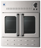 "BWO30AGSN BlueStar 30"" Single Gas Built-In Wall Oven with French Doors - Stainless Steel"