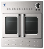 "BWO36AGSN BlueStar 36"" Single Gas Built-In Wall Oven with French Doors - Stainless Steel"