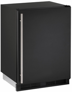 "CO1224FB00B U-Line 1000 Series 24"" Wide Combo Refrigerator & Ice Maker Holds up to 62 Bottles - Field Reversible - Black"