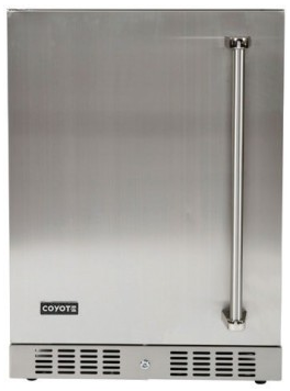 "C1BIR24L Coyote 24"" Outdoor Compact Refrigerator with Automatic Defrost and Digital Thermostat - Stainless Steel"