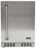 "C1BIR24R Coyote 24"" Outdoor Compact Refrigerator with Automatic Defrost and Digital Thermostat - Stainless Steel"