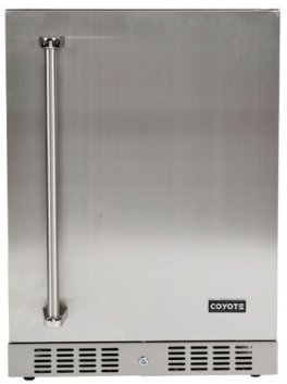 """C1BIR24R Coyote 24"""" Outdoor Compact Refrigerator with Automatic Defrost and Digital Thermostat - Stainless Steel"""