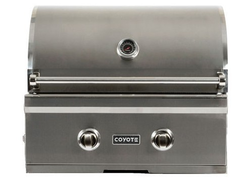 "C1C28LP Coyote 28"" C-Series Liquid Propane Built-In Grill with Interior Hood Lights and 40,000 total BTU - Stainless Steel"