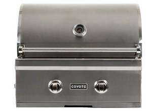 "C1C28NG Coyote 28"" C-Series Natural Gas Built-In Grill with Interior Hood Lights and 40,000 total BTU - Stainless Steel"