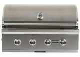 "C1C36LP Coyote 36"" C-Series Liquid Propane Built-In Grill with Interior Hood Lights and 80,000 total BTU - Stainless Steel"