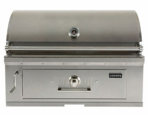"C1CH36 Coyote 36"" Charcoal Grill with Adjustable Fuel Tray - Stainless Steel"