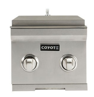 """C1DBNG Coyote 12"""" Natural Gas Propane Double Side Burner - Stainless Steel"""