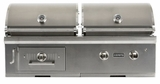 "C1HY50NG Coyote 50"" Natural Gas Hybrid Gas and Charcoal Grill - Stainless Steel"