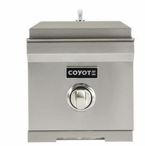"C1SBNG Coyote 11"" Natural Gas Single Side Burner - Stainless Steel"