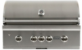 "C1SL36LP Coyote 36"" S-Series Liquid Propane Built-In Grill with LED Knobs and 95,000 total BTU - Stainless Steel"