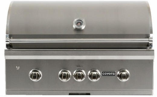"""C1SL36LP Coyote 36"""" S-Series Liquid Propane Built-In Grill with LED Knobs and 95,000 total BTU - Stainless Steel"""