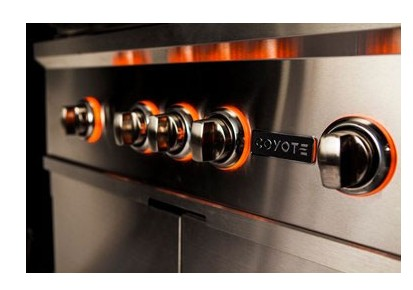 "C1SL36NG Coyote 36"" S-Series Natural Gas Built-In Grill with LED Knobs and 95,000 total BTU - Stainless Steel"