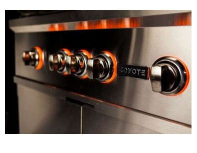 "C1SL42LP Coyote 42"" S-SeriesLiquid Propane Built-In Grill with LED Knobs and 115,000 total BTU - Stainless Steel"