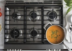 """C2S986SELSS Cafe 30"""" Slide-In Front Control Dual-Fuel Range with True European Convection and Wifi Connect- Stainless Steel"""