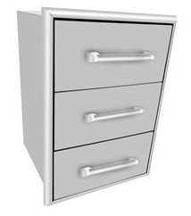 C3DC Coyote Three Drawer Cabinet