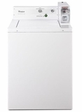 """CAE2743BQ 27"""" Whirlpool Top-Load Commercial Washer with 2.9 cu.ft Capacity and Adjustable Leveling Legs - White"""