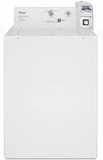 "CAE2745FQ Whirlpool 27"" 2.9 cu. ft. Commercial Top Load Washer with 4 Wash Cycles and Auto Load Sensing - White"