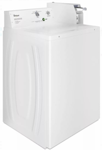 """CAE2745FQ Whirlpool 27"""" 2.9 cu. ft. Commercial Top Load Washer with 4 Wash Cycles and Auto Load Sensing - White"""