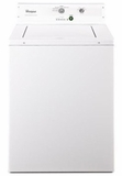 """CAE2793BQ 27"""" Whirlpool Non-Metered Top-Load Commercial Washer with 2.9 cu.ft Capacity and Adjustable Leveling Legs - White"""