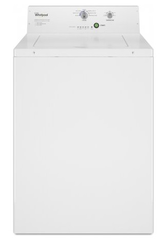 """CAE2795FQ Whirlpool 27"""" 2.9 cu. ft. Commercial Top Load Washer with 4 Wash Cycles and Deep-Water Wash System - White"""