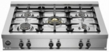"CB36M500X Bertazzoni 36"" Pro-Style Gas Rangetop with 5 Sealed Burners and 18,000 BTU - Stainless Steel"