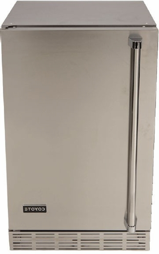 "CBIRL Coyote 21"" Left Hinge Outdoor Refrigerator with 4.1 cu. ft. Capacity and 3 Wire Shelves - Stainless Steel"