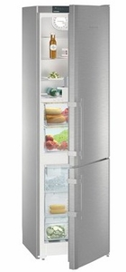 "CBS1360L Liebherr 24"" Freestanding/Semi Built-In Bottom Mount Refrigerator with DuoCooling Technology and SoftSystem Shelves - Left Hinge - Stainless Steel"