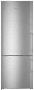 "CBS1661 Liebherr 30"" 14.9 Cu. Ft. Capacity Freestanding Refrigerator with Bottom-Mount Freezer and BioFresh Technology - Left Hinge - Stainless Steel"